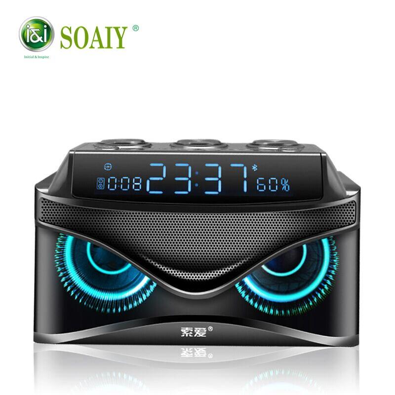 Nova SOAIY 19 W Música estéreo surround Altifalante Sem Fios Bluetooth speaker Portátil Ao Ar Livre caixa de som Speaker Bass Cartão TF Rádio