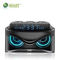 SOAIY Bluetooth speaker Portable Wireless Loudspeaker 19W stereo Music surround Outdoor Speaker sound box Bass TF Card Radio
