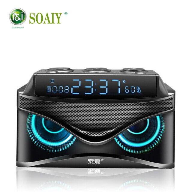 Новый SOAIY Bluetooth динамик Портативный беспроводной громкий динамик 19 Вт стерео музыка объемный открытый динамик звуковая коробка бас tf-карта радио