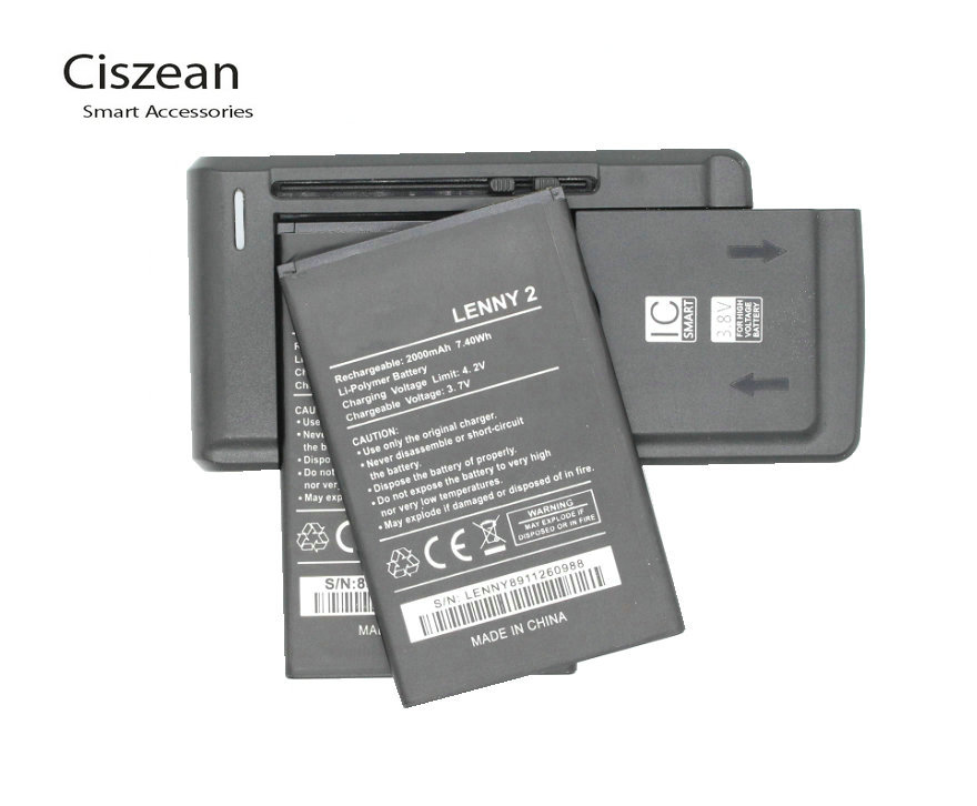 Ciszean 2-Battery Charger Replacement For Wiko LENNY2 Bateria Cell-Phone-Batteries Cell-Phone-Batteries