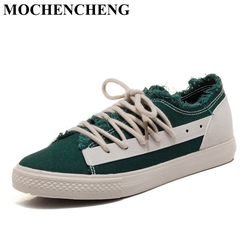 New Lace-up Women Casual Shoes for Spring Summer Retro Style Breathable Canvas Shoes High Qality Leisure Shoes Nonslip Sneakers gogc 2018 new style women shoes with hole breathable women flat shoes women sneakers casual shoes summer spring lace up footwear