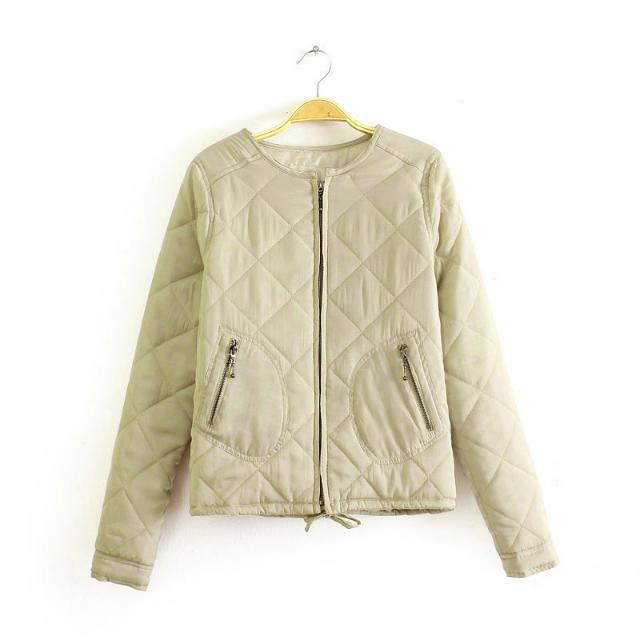 2016 Primavera e No Outono nova chegada do sexo feminino moda casual militar de algodão-acolchoado casacos, mulheres marca acolchoado jaqueta outerwear