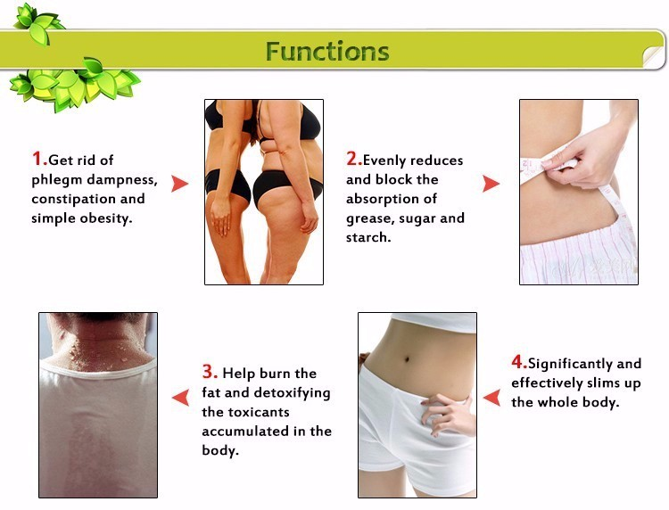 30 Pcs/Box Slim Patch Weight Loss Natural Ingredients Navel Patch For Women Men Fat Burning Slimming Body Wraps Health Products 10