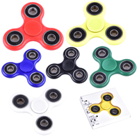 Multi Color Finger Spinner Fidget Plastic EDC Hand Triangle Gyro For Autism ADHD Anxiety Stress Relief