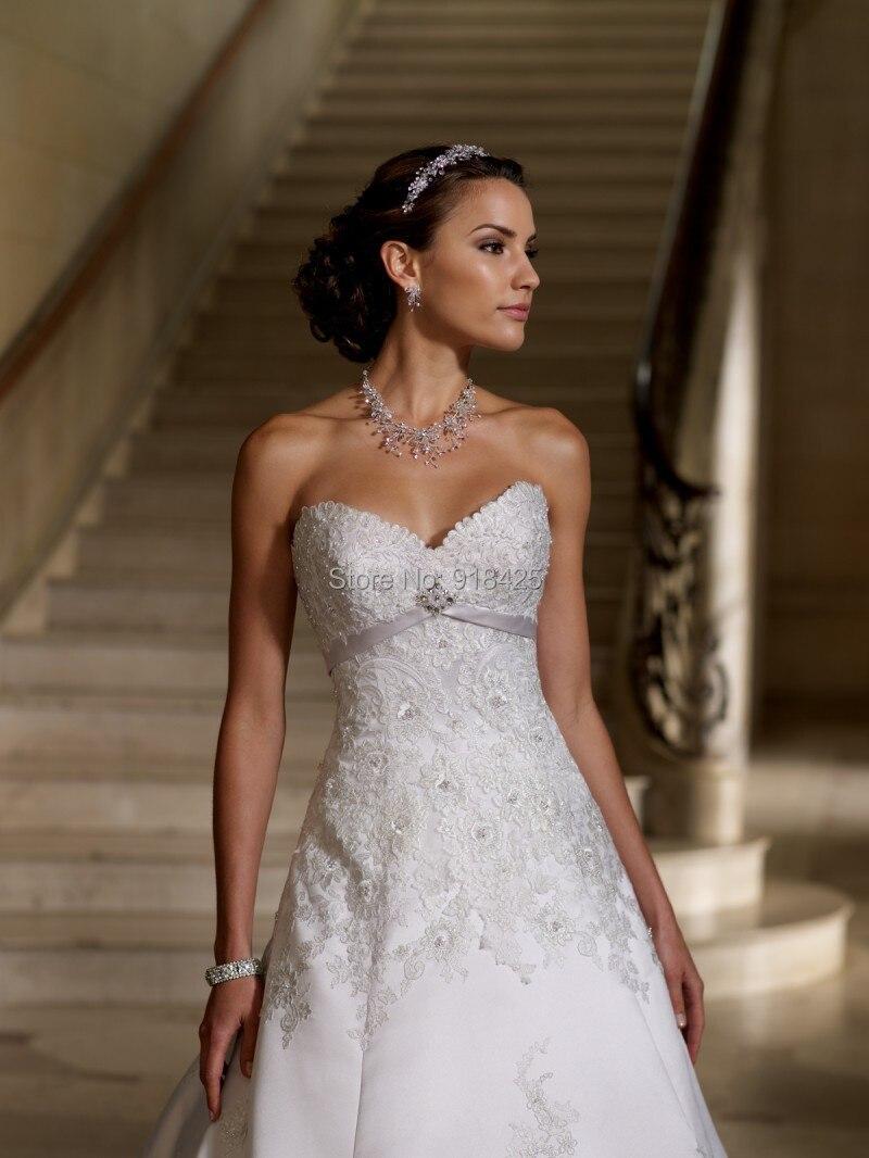 Vintage Style Royal Brautkleider Low Back Satin Brautkleid Luxus ...