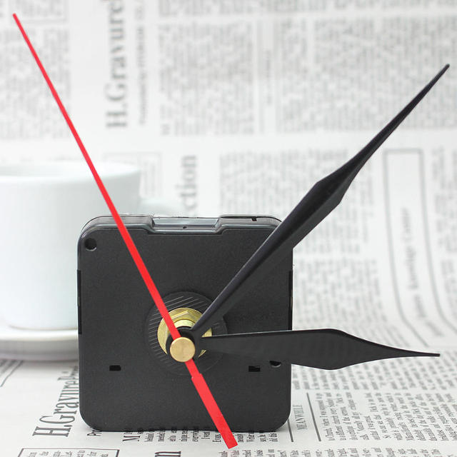 Simple DIY Quartz Wall Clock Movement Mechanism Replace Part Repair Tool Kit with Black Hands Arrows Silent