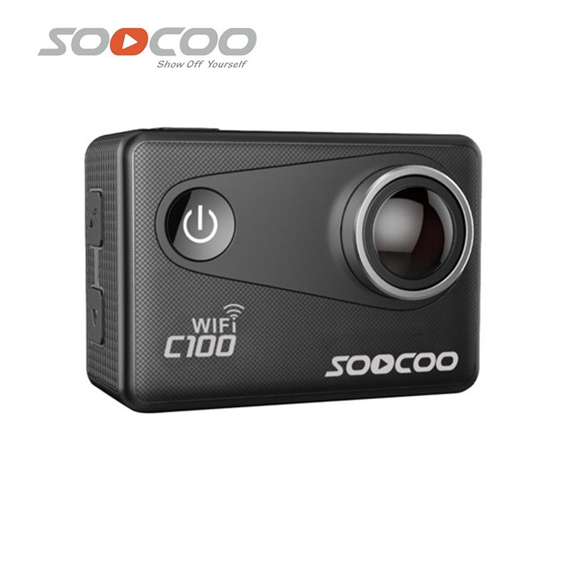 SOOCOO C100 Action Camera Waterproof 4K 20MP Wifi Built-in Gyro with GPS Extension Sports Camera View Angle Adjustable