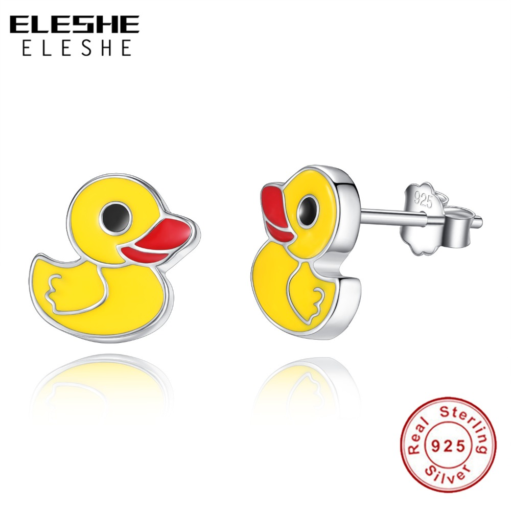 Top 10 Jewelry Gift Sterling Silver Enameled Duck Charm