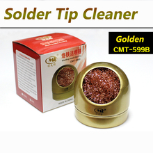 Lead Free Solder Tip Cleaner Tool Welding Soldering Solder Iron Tip Cleaner Cleaning Hot Steel Wire With Stand Set