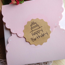"""Happy Birthday"" Stickers 120 pcs/lot"