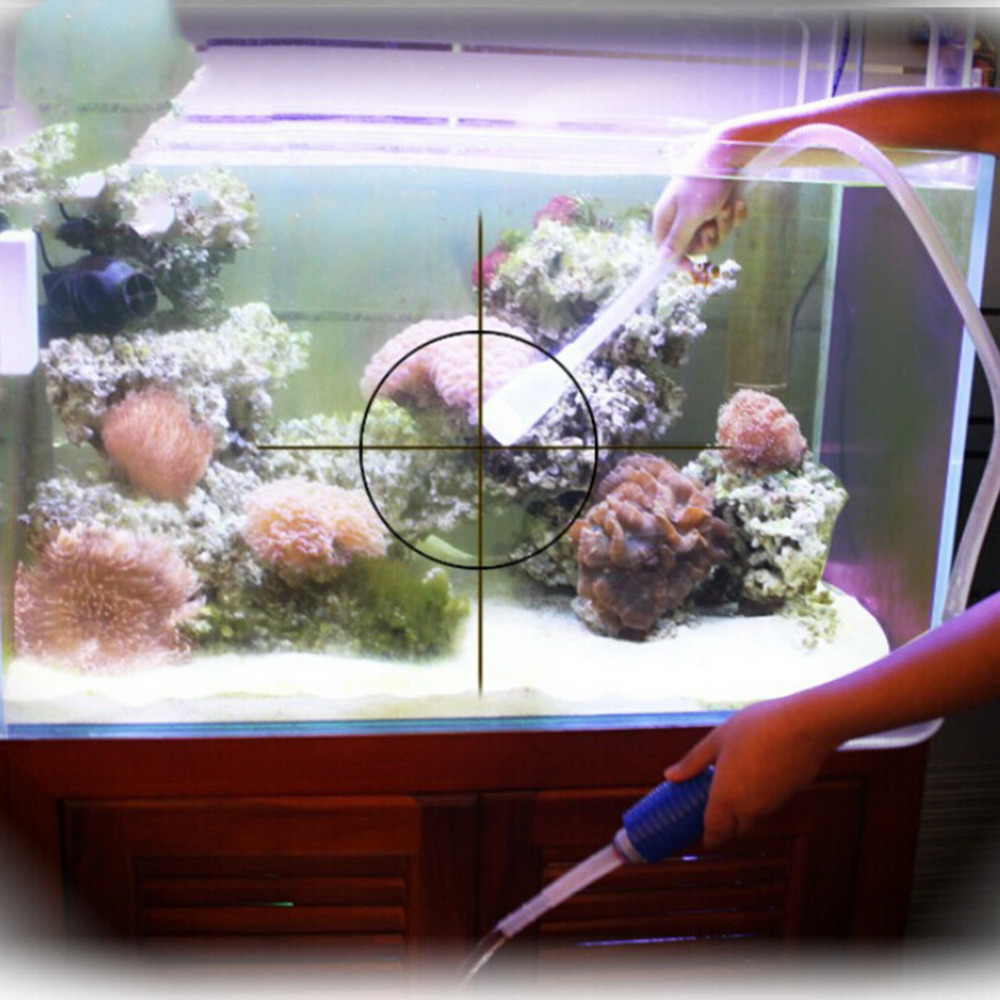 1.8m Fish Tank Siphon Pump Aquarium Vacuum Manual Cleaner Tool Gravel Suction Pipe Filter Water Change Tools Unique