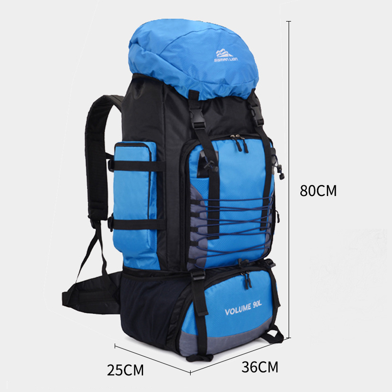 90L Travel Bag Camping Backpack Hiking Army Climbing Bags Trekking Mountaineering Mochila Large Capacity Sport Rucksack XA857WA Luggage & Bags cb5feb1b7314637725a2e7: 50L Blue|50L Green|50L Grey|90L Black|90L Blue|90L Dark Blue|90L Orange|90L Red