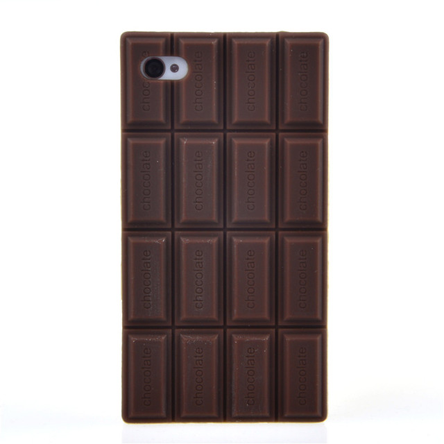 Etui iPhone tabliczka czekolady dwa kolory 7 / 6 / 6s Plus / 5 / 5s / 4 / 4s