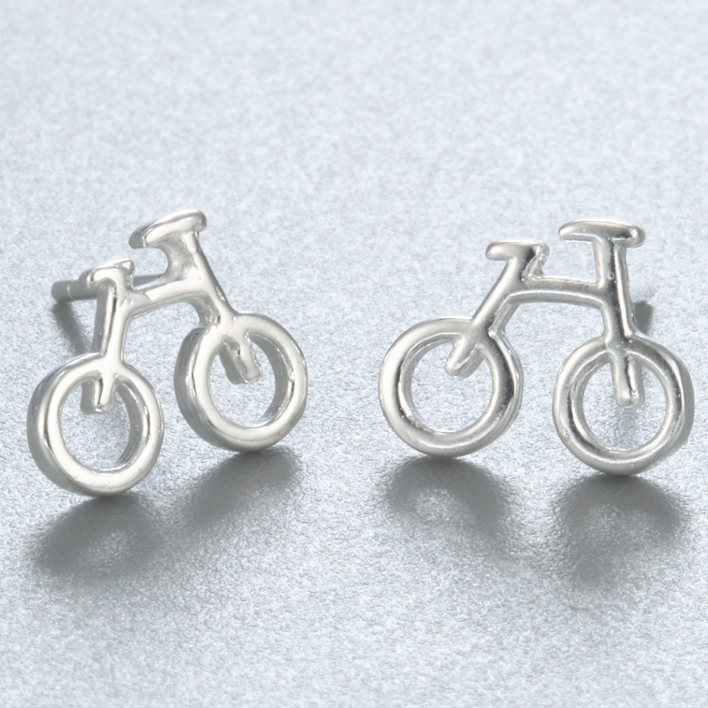 QIAMNI 925 Sterling Silver Biciklističke Stud naušnice Naušnice za - Modni nakit - Foto 3