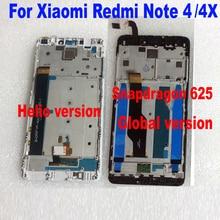 MTK Helio X20/Snapdragon 625 глобальных 32 ГБ/64 ГБ ЖК-дисплей Дисплей Сенсорный экран планшета Ассамблея + рамка для xiaomi Redmi Note 4 4X
