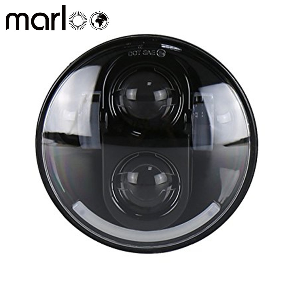 Marloo 5.75 5 3/4 LED Headlight White DRL For Harley Street Bob Nightster 48 Iron 883 Street 750 Indian Scout