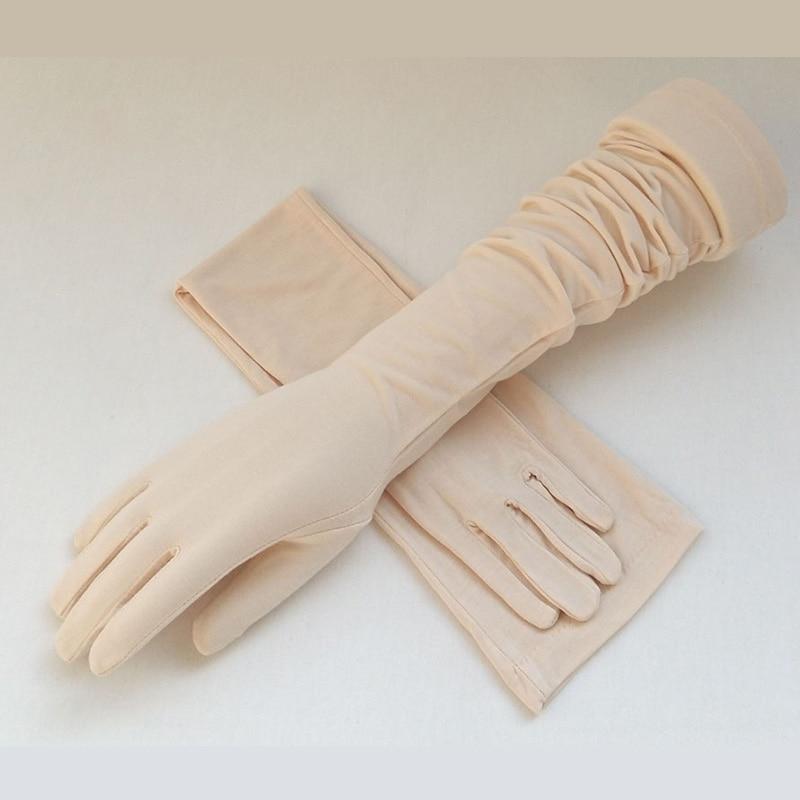 UV Hand Protection Sunscreen Women Long Gloves Modal Summer Spring Full Finger Driving Touch Screen Lady Long Gloves Arm Gloves