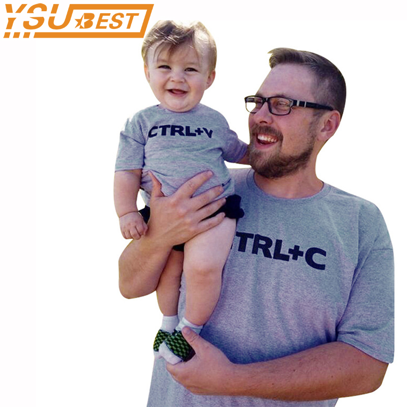 Summer Family Matching Outfits CTRL C + CTRL V Pattern Family Look Dad Son T Shirts Fash ...