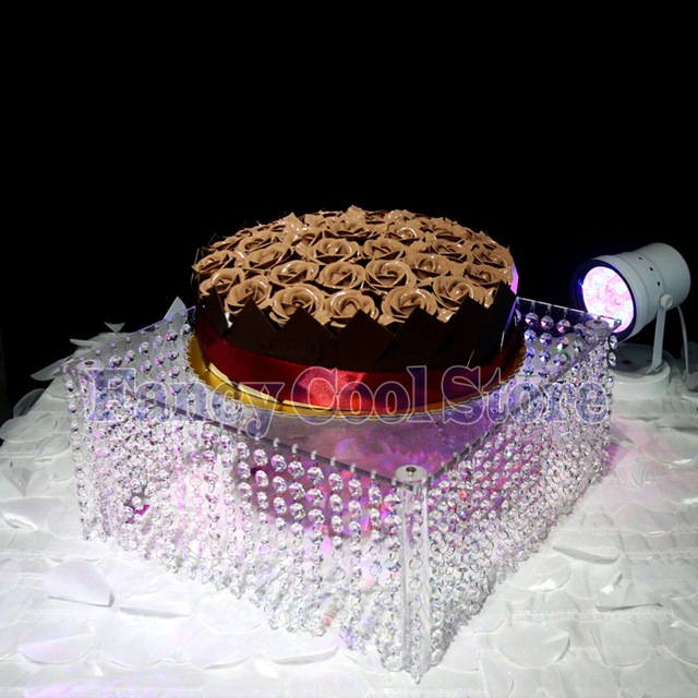 wedding crystal acrylic cake stand square cake display cupcake