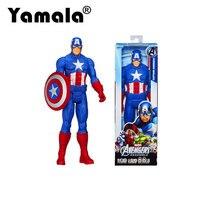 Yamala 100 New In Box Avengers Assemble Hero Series Captain America 30CM 12 Action Figures