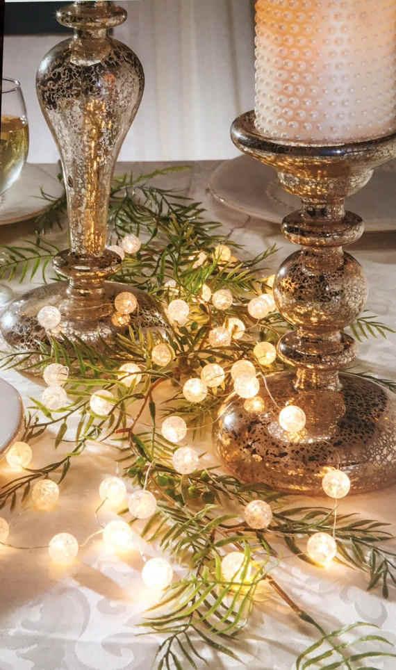 Аккумуляторный шар, светодиодный гирлянда, сказочный свет, рождественские настольные огни, вечерние, свадебные, декоративный фонарь, огни