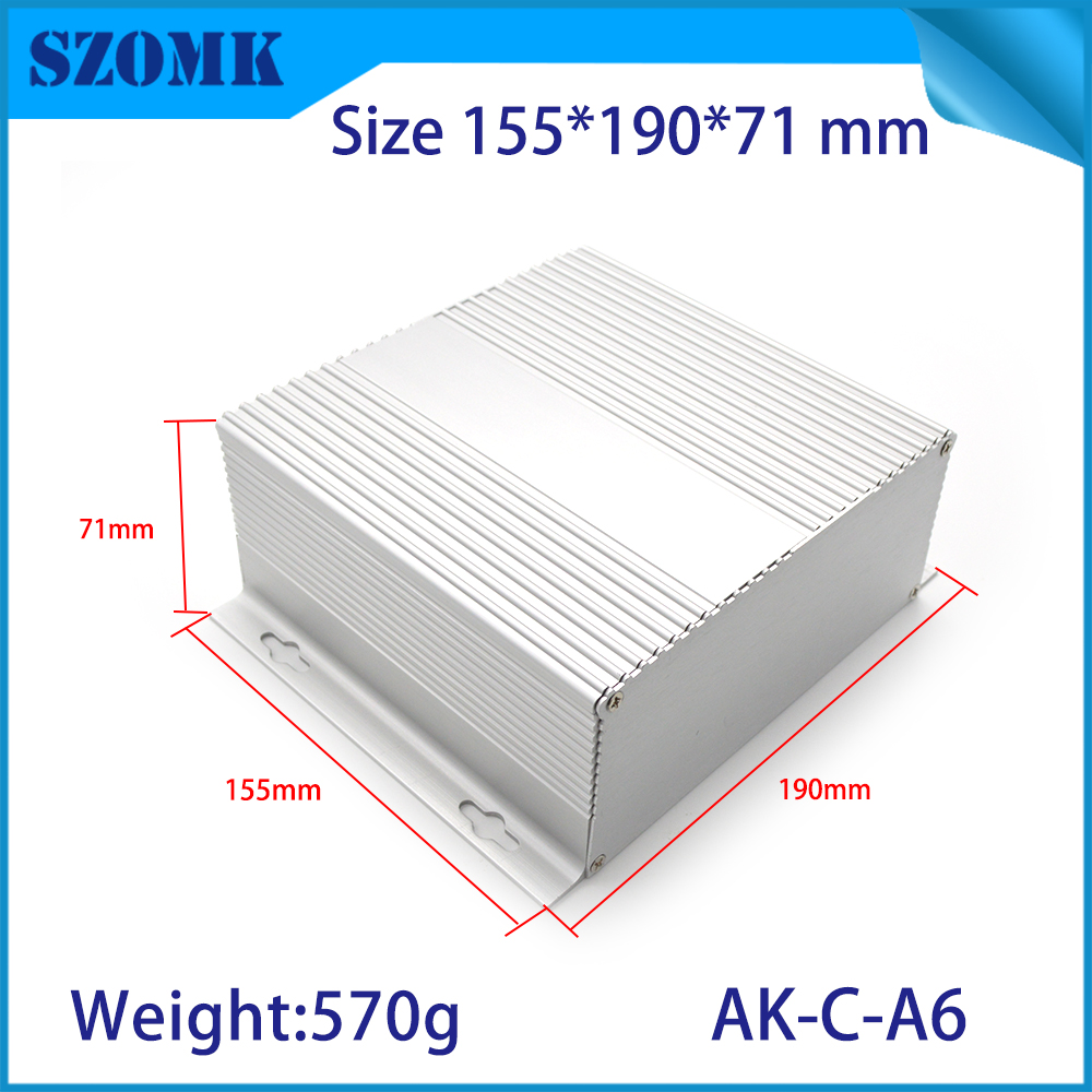 10 pcs/lot aluminum junction box for diy electronics pcb design metal metal housing case szomk enclosure boxes case 71*190*155mm aluminium housing metal electronics box diy aluminum enclosure ygs 036 96 45 5 140mm wxh d