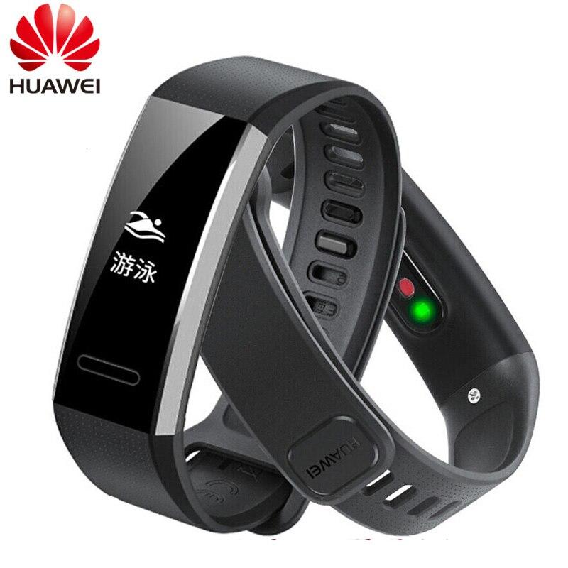 Originale Huawei Fascia 2 pro B29 B19 Intelligente Wristband per il Monitor Per Il Fitness 50 m Nuotare Impermeabile Bluetooth OLED Fascia di Sport