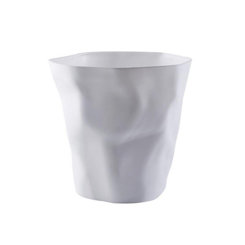 Black/White Colors Nordic Style PP Wastebasket Trash Can, Round Desk Pen Holder, Flowerpot-in Waste Bins from Home & Garden