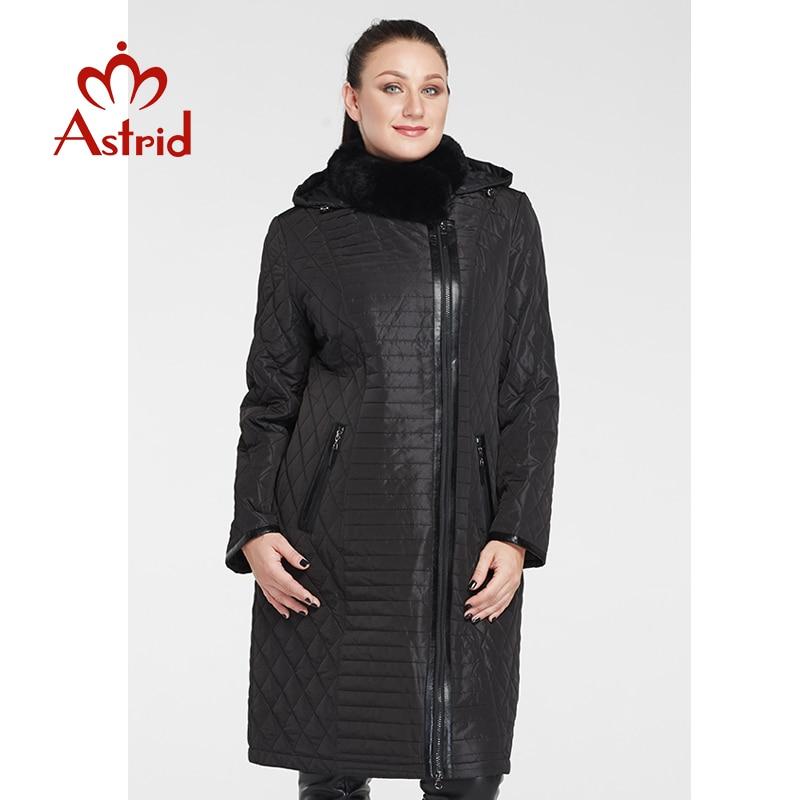 Astrid New Women Coat Rex Fur Collar Winter Parkas Winter Jackets Big Size Warm Fashion Jacket