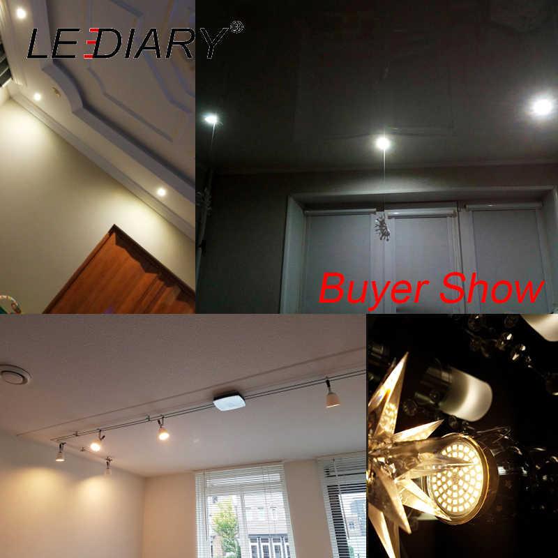LEDIARY Super Bright LED หลอดไฟ/โคมไฟ GU5.3 12V 60LED MR16 จุด SMD2835 หลอดไฟอุ่น/เย็นสีขาวมุม 120 องศา