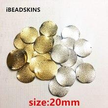 Chegada de novo! 20mm 100 pçs/lote material de Cobre rugas Twisted coin forma de charme para brinco/jóia DIY (como mostrado)
