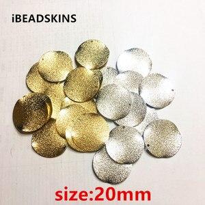 Image 1 - Chegada de novo! 20mm 100 pçs/lote material de Cobre rugas Twisted coin forma de charme para brinco/jóia DIY (como mostrado)