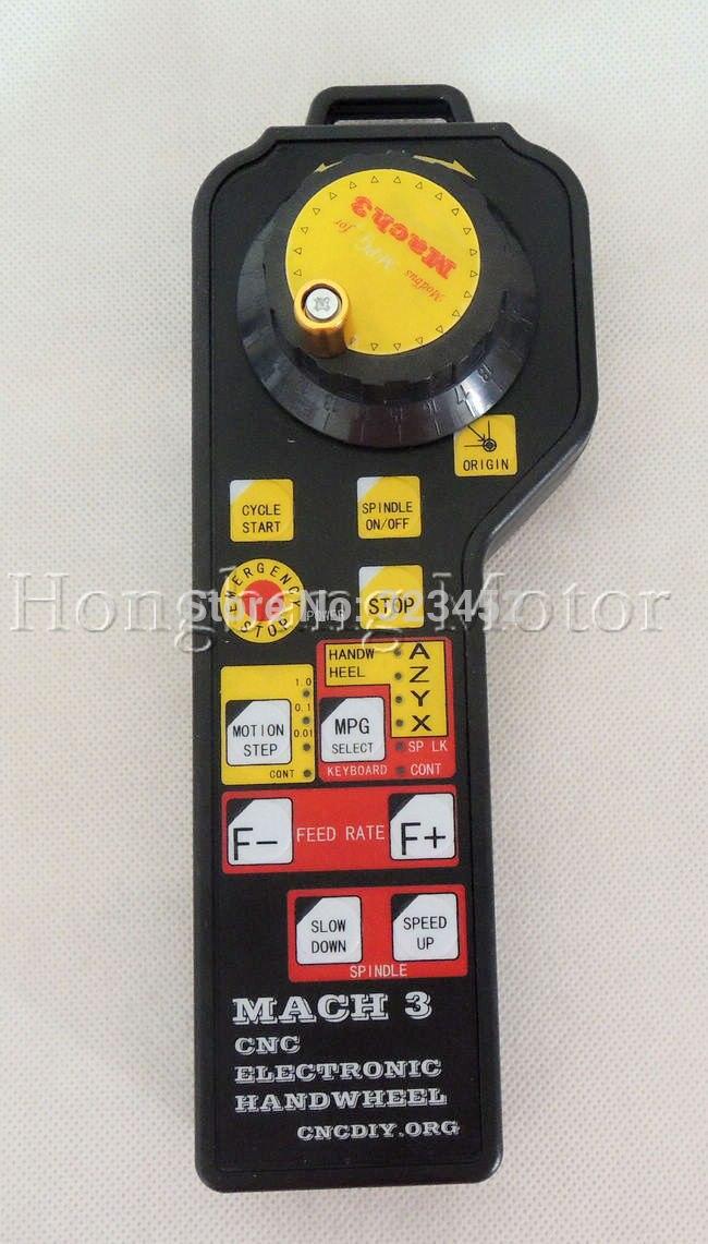 MACH3 CNC USB Electronic Handwheel Manual Controller MODBUS MPG with linking caple