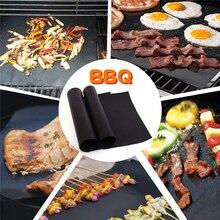 1 шт. антипригарная подставка для барбекю и гриля, легко очищаемые кухонные аксессуары, инструменты для барбекю, коврик для выпечки, тефлоновая плита для приготовления на гриле