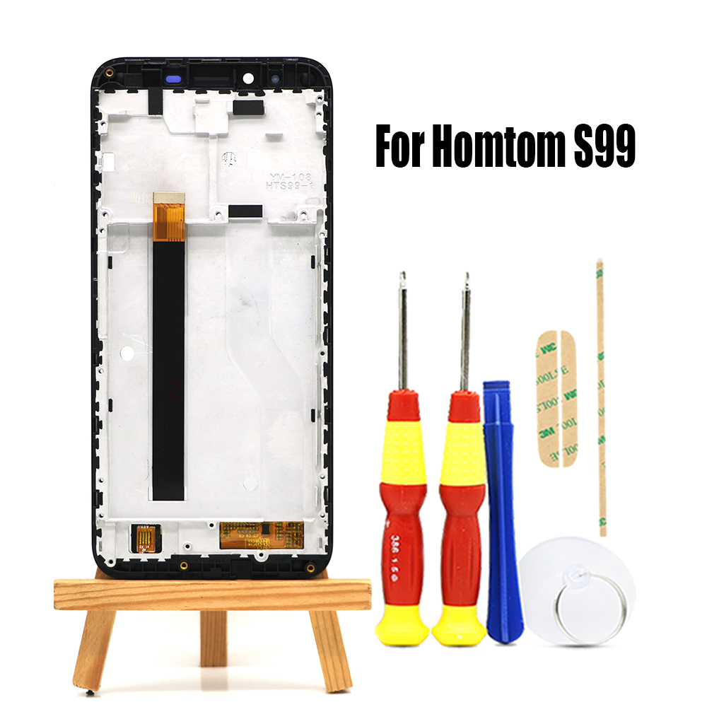 Original 5.5 inch Touch Screen+ 1440x720 LCD Display +Frame Assembly Replacement For Homtom S99 Android 8.0 Phone(China)