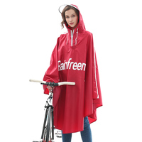 Fashion Big Cycling Rain Poncho Audlt Cycling Bicycle Bike Scooter Raincoat Rain Cape Poncho Hooded Windproof Rain Coat 3DYY11