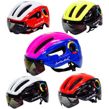 ultralight EPS bicycle helmet for men road mtb mountain bike helmet lenses goggles cycling equipment 9 vents Casco Ciclismo