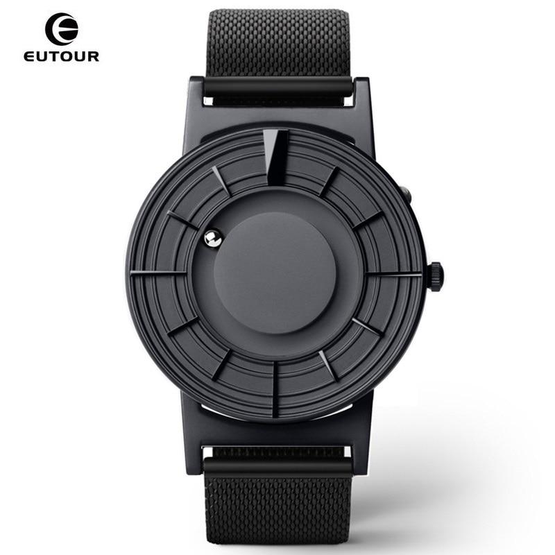EUTOUR Magnetic Mens Watch Quartz Man Women watches Ball Show Kinds Straps Fashion Casual Wrist Watches erkek kol saati 2019
