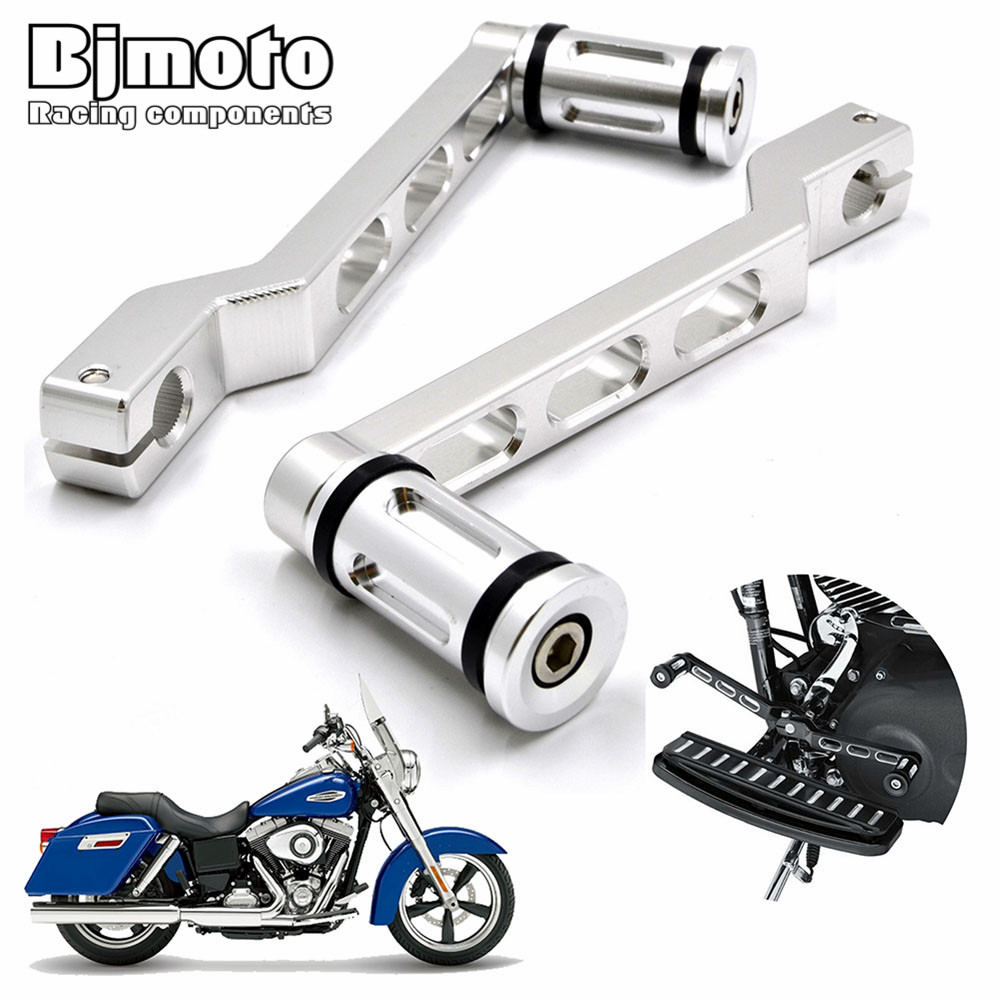 цена на BJMOTO Motorcycle Pedal Heel Toe Gear Shifter Shift Lever with Shift Pegs For Harley Touring Softail Road Glide
