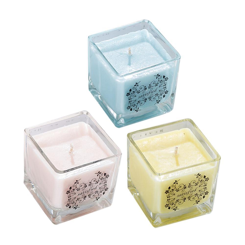 1 Stücke Aromatherapie Kerze Natürliche Soja Wachs Duft Kerze Zufällige Farbe Lieferung NüTzlich FüR äTherisches Medulla