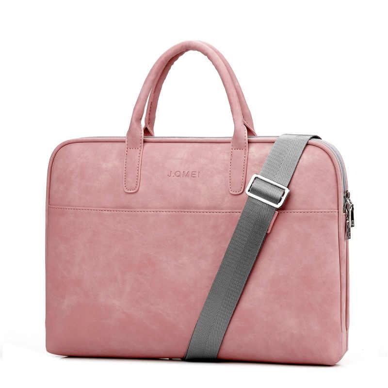 ba4201efe091 Подробнее Обратная связь Вопросы о Модные PU кожаные сумки для ноутбуков  для женщин 14 15 15,6 17,3 дюймов для macbook air 13 дюймов повседневные ...