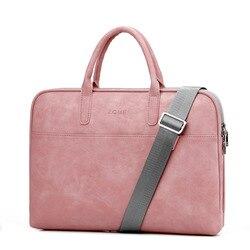 موضة بولي PU حقائب اللابتوب الجلدية للنساء 14 15 15.6 17.3 بوصة لماك بوك اير 13 بوصة عادية المحمولة مقاوم للماء حقيبة دفتر