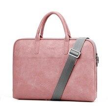 Модные сумки для ноутбуков из искусственной кожи для женщин, 14, 15, 15,6, 17,3 дюйма, для macbook air, 13 дюймов, повседневная портативная водонепроницаемая сумка для ноутбуков