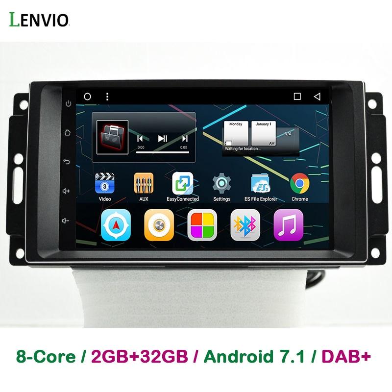 Lenvio Оперативная память 2 ГБ + 32 ГБ Android 7,1 dvd плеер автомобиля для Jeep командующий компас Grand CHerokee Dodge 2007 2010 Chrysler 300C Sebring