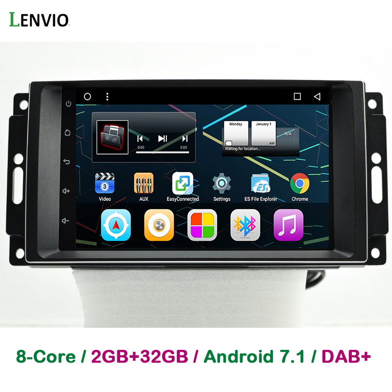 Lenvio RAM 2GB+32GB Android 7.1 CAR DVD PLAYER For Jeep Commander Compass Grand CHerokee Dodge 2007 2010 Chrysler 300C Sebring
