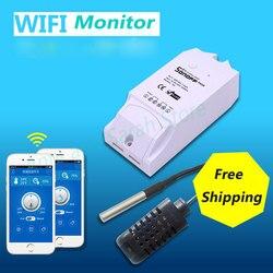Itead Sonoff TH 10a 16a temperatura wilgotność czujnik monitorowania dla inteligentnego domu inteligentne wifi przełączanie aplikacji bezprzewodowy pilot zdalnego sterowania w Inteligentny pilot zdalnego sterowania od Elektronika użytkowa na
