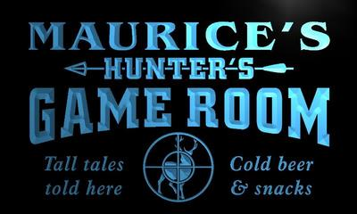 x0184-tm Maurices Hunters Game Room Custom Personalized Name Neon Sign Wholesale Dropshipping On/Off Switch 7 Colors DHL