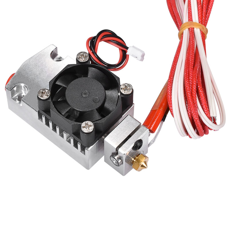 3D Printer Parts Extruder 2 In 1 Out Hotend with single cooling fan Dual Color 12V 24V heater Hotend Kit for 1.75mm Filament biqu new 3d printer part 2 in 1 out extruder with single cooling fan for dual color cyclops 12v 24v heater for selection
