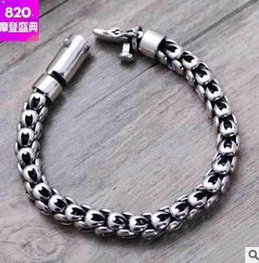 new arrival 2018 man bracelet 8mm mens jewellery 925 handmade bracelets 21cm mens bracelets 2018 friendship bracelets 9mm man bracelet silver 925