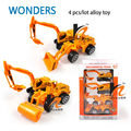 Educational Toy 1:64 Alloy Tractor Toy Rural engineering van excavator street roller Model Children's Toy Metal Model  Vehicles